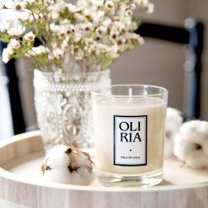 bougie parfumée Oliria fleur de coton