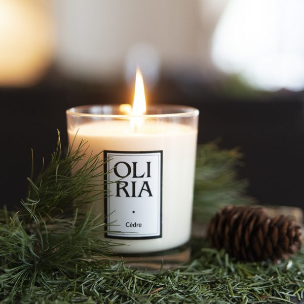 bougie parfumée Oliria cèdre