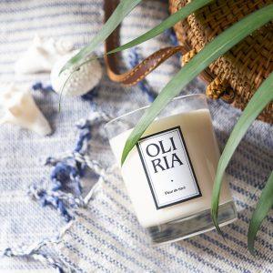 bougie parfumée Oliria fleur de tiaré