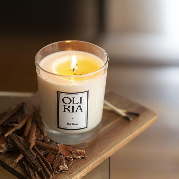 bougie parfumée Oliria oud-santal