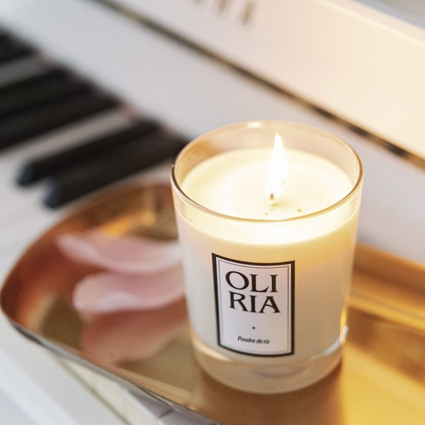 bougie parfumée Oliria poudre de riz