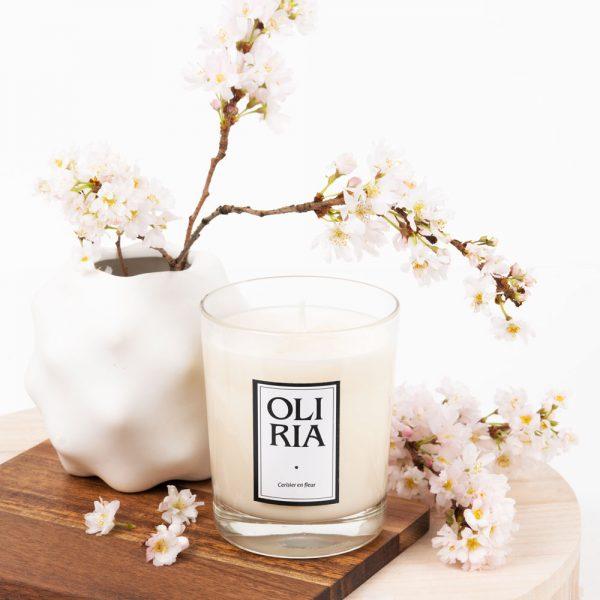 bougie parfumée Oliria cerisier en fleurs