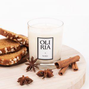 bougie parfumée Oliria pain d'épices