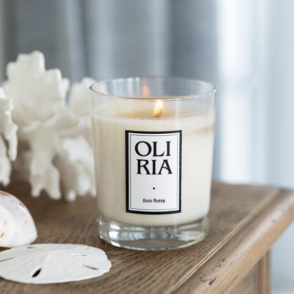 bougie parfumée Oliria bois flotté